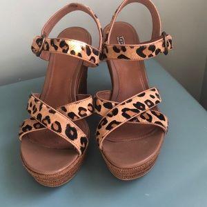 UGG Jasmine Leopard Sandal